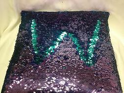 """14"""" Mermaid Sequin Throw Pillow, Color Changing, Purple, Mid"""