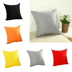 "16"" 18"" 20"" Pillow Case Sofa Car Waist Throw Cushion Cover H"