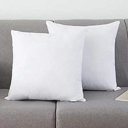 YSTHER 16x16 Pillow Inserts Set of 2 White Cotton Throw Pill