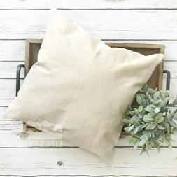 16x16 Wholesale Blank Cotton Canvas Throw Pillow Cover - NAT