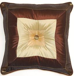 Dakotah 17 by 17-Inch Pieced Square Cord Edge Button Pillow,