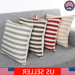 18 cotton linen square home decor throw