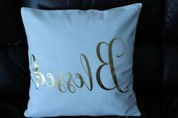 18 in. Throw Pillow Blessed