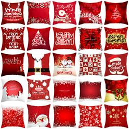 18'' Merry Christmas pillows case throw cushion cover for so