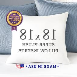 """18 x 18"""" Form Insert Cushion Stuffing Throw Pillow Inserts D"""