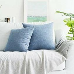 18 x 18 NEW BLUE THROW PILLOW COVERS KEVIN TEXTILE NWT