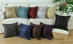 CaliTime Chains Accent Geo Reversible Cushion Throw Covers P