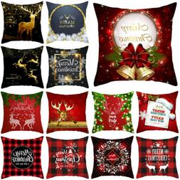 "18x18"" Christmas Pillow Case Sofa Car Throw Cushion Covers H"