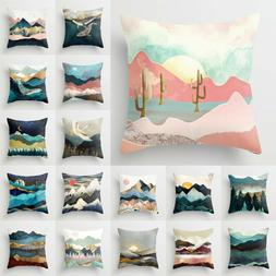"""18x18"""" Pillow Case Cushion Cover Square Home Bedroom Sofa Wa"""
