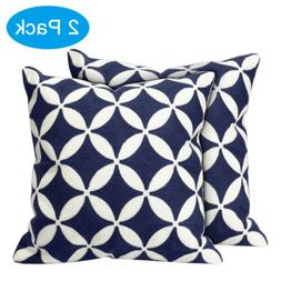 """2 Pack 18"""" Throw Pillows Home Decor Cotton Embroidery Pillow"""