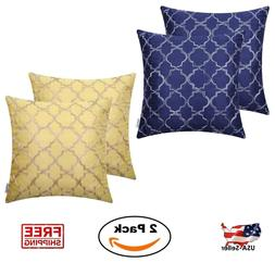 2 Pack 18 x 18 Pillow Covers Set Case Square Throw Cushion C