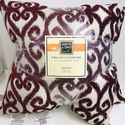 """2 PACK Studio Chic Home Decorative Down Throw Pillows 20""""x"""