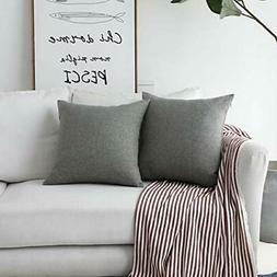 """Home BRILLIANT2 Pack Textured Linen Throw Pillow Covers 20""""x"""
