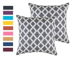 TreeWool,  Throw Pillow Cushion Covers in Soft Cotton Lattic