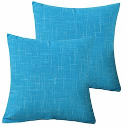 "2 Packs 18""x18""Pillow Covers Throw Cushion Cases for Couch S"