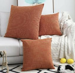 Kevin Textile 2 Packs Decorative Hand Made Faux Linen Throw