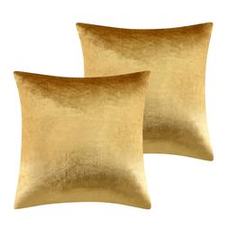 2 Packs Gold Decorative Cushions Covers Cases for Sofa Bed C