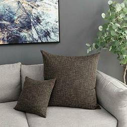 Kevin Textile 2 Packs Throw Pillow Cases Textural Faux