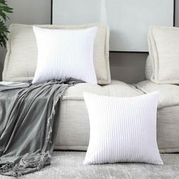 Home Brilliant 2 Packs Throw Pillows For Couch Striped Velve