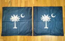 """2 Throw Pillows Covers for Couch/Bed 20 x 20"""" Palm Tree Moon"""