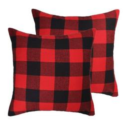 4TH Emotion 20 x 20 Inch Christmas Red and Black Buffalo Che