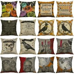 2019 Halloween Pillows Cover Fall Decor Pillow Case Sofa Thr