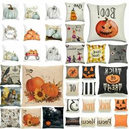 2019 Halloween Pillows Cover Fall Decor Pillow Case Throw Cu