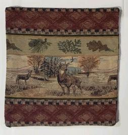 20x20 Deer Valley Rustic Cabin Throw Pillow Cover only