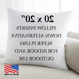 20x20 Discount Pillow Factory Form Insert Euro Pillow Stuffi