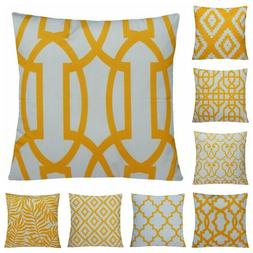 "20x20"" Mustard Yellow Premium Accent Throw PILLOW COVER Sofa"