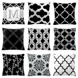 "24x24"" Black & White Accent Decorative Throw PILLOW COVER So"
