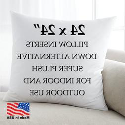 24x24 Discount Pillow Factory Euro Pillows Form Insert Throw
