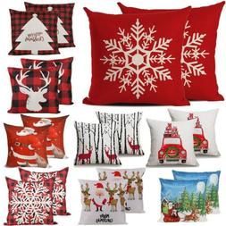 2pc Christmas Throw Pillow Covers Cases Pillowcase for Couch