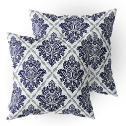 2Pcs Burgundy Throw Pillows Shells Covers Light Weight Dyed
