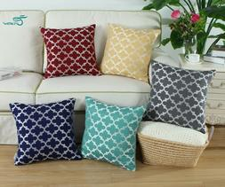2Pcs CaliTime Pillows Throw Cushion Covers Shells Accent Geo