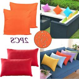 2X Outdoor Waterproof Throw Pillow Cover Cushion Case For Pa