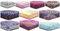 35 Inch Large Square Cushion Cover Cotton Indian Pillow Cove