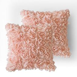 MIULEE Pack of 2 3D Decorative Romantic Stereo Chiffon Rose