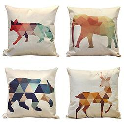 4 packs square pillowcases