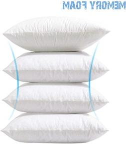 Phantoscope 4 Packs Throw Pillow Inserts Hypoallergenic Squa