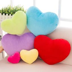40cm Heart Shape Decorative Throw Pillow PP Cotton Soft Crea
