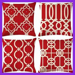 4Pack Decorative Throw Pillow Covers Outdoor/Indoor Cushion