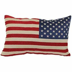 8377 American Throw Pillows Flag Tapestry Toss Pillow, 13-In