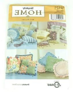 Simplicity 9121 Craft Throw Pillows 12 Styles Uncut Sewing P