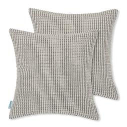 CaliTime Pack of 2 Comfy Throw Pillow Covers Cases for Couch