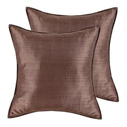 CaliTime Pack of 2, Silky Throw Pillow Covers Cases for Couc