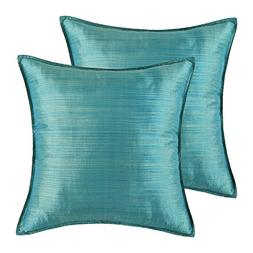 CaliTime Pack of 2 Silky Throw Pillow Covers Cases for Couch