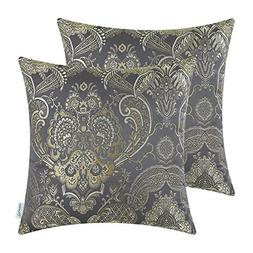 CaliTime Pack of 2 Supersoft Throw Pillow Covers Cases for C