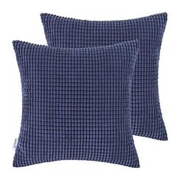 CaliTime Pack of 2, Throw Pillow Covers Cases for Couch Sofa