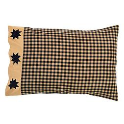 Dakota Star Primitive Country Patchwork Pillow Cases  by Ash